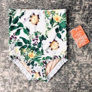 Kortni Jeane   Wildflower Ruffle Swim Bottoms
